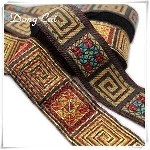 Кружевная швейная накладка на джинсовое платье, 5 ярдов/партия, 3,3 см, тесьма для платья, этническая, тайская, индийская, бохо, аксессуары для ...