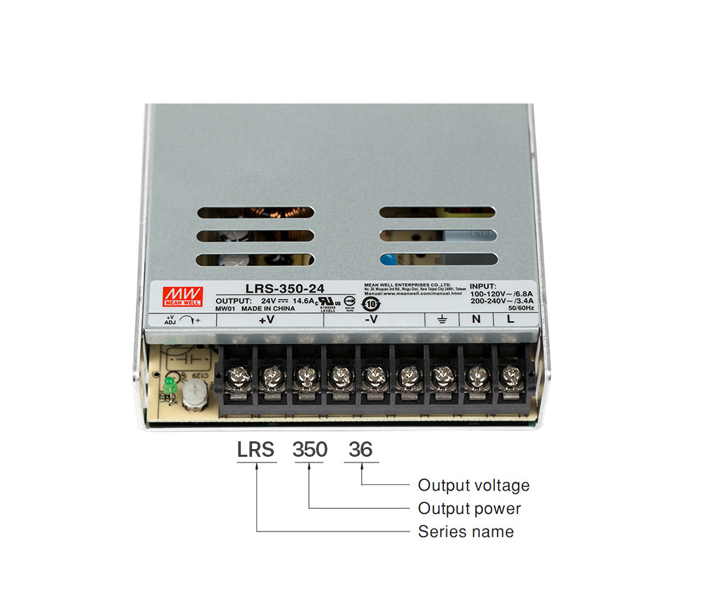 Meanwell LRS-350 Switching Power Supply Switch Power Supply 12V 24V 36V 48V 350W Original MW Taiwan Brand LRS-350-24 Wholesale