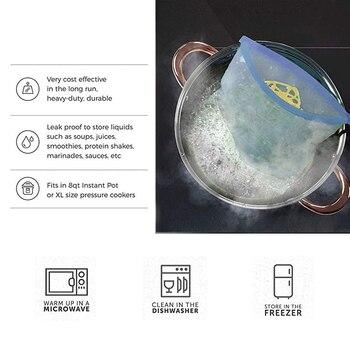 1000ml Herbruikbare Siliconen Opbergzakken Vacuüm Voedsel Verse Zakken Wraps Koelkast Voedsel Seal Containers Vriezer Bag Keuken Ziplock Zakken