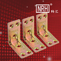 NRH7912 Thick iron corner color zinc triangle bracket fixed angle 90 degree angle  furniture hardware fittings accessories