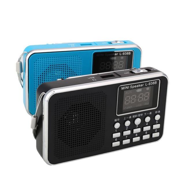 Мини FM Радио СВЕТОДИОДНЫЙ Стерео Динамики USB U-Disk/TF Карта Micro Sd MP3 Музыкальный Плеер