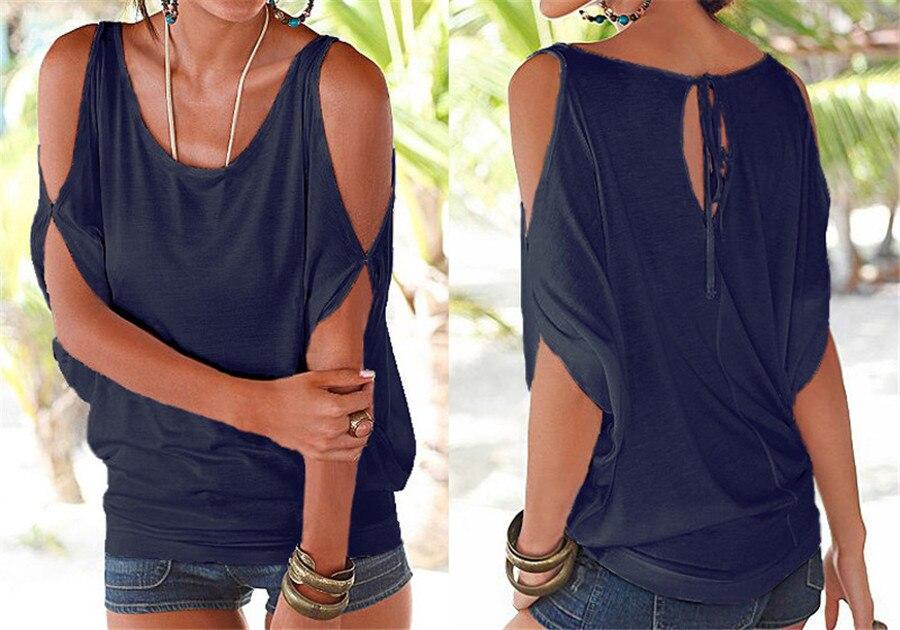 HTB1nTMnKVXXXXcTXXXXq6xXFXXXt - T shirt O neck Short sleeve Off shoulder Sexy Loose Casual