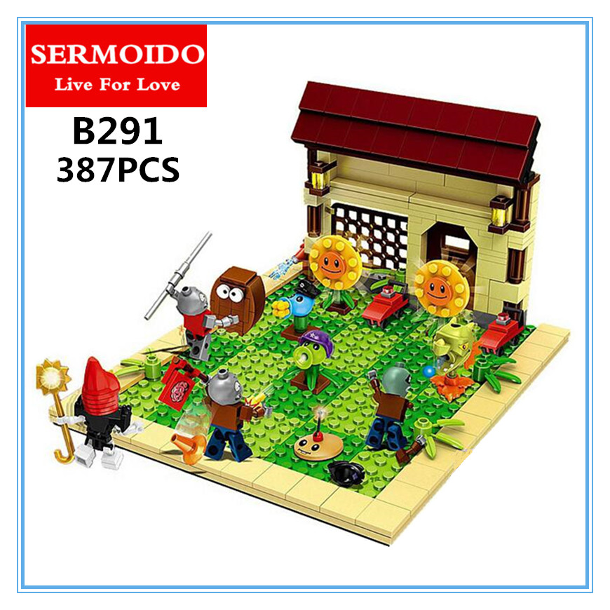 SERMOIDO Plants Vs Zombies Garden Maze Struck Game Building Bricks Blocks Anime Figures Minecraft Toys For Children Gift B291 plants vs zombies 050302 mysterious egypt building bricks blocks anime action figures my world minecraft toys for children gifts