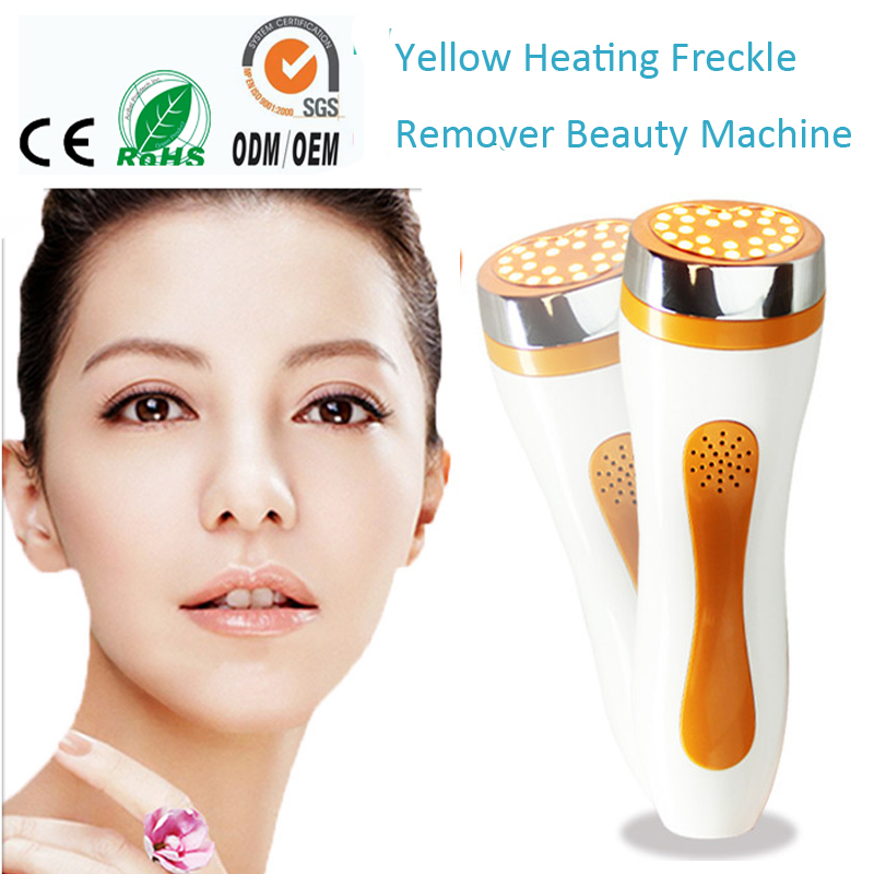 PDT Heating Yellow Led Light Photon Therapy Freckle Age Spot Remover Collagen Stimulation Regrow Skin Firming Beauty Equipments rechargeable pdt heating led photon bio light therapy skin care facial rejuvenation firming face beauty massager machine