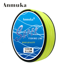 Anmuka 4 Stands 100m 10-80LB Brand FIshing Lines Super Strong Japanese Multifilament 100% PE Braided Fishing Line
