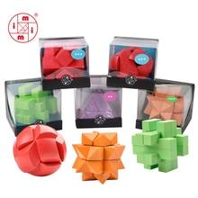 Классические деревянные головоломки MITOYS IQ, головоломки для мозгов, головоломки, игрушки для взрослых, детские 3D деревянные головоломки