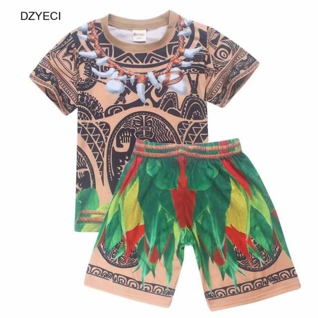 7f36c288d5f34 DZYECI Vaiana Moana ensemble pour bébé garçon Maui Costume vêtements de noël  pyjamas enfant Boutique tenues