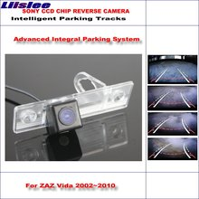 Liislee Rear Camera For ZAZ Vida 2002~2010 Intelligent Parking Tracks Backup Reverse / 580 TV Lines Dynamic Guidance Tragectory zaz caen