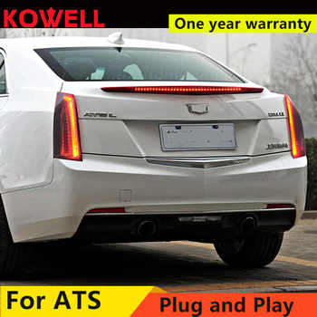 Car Styling for Cadillac ATS Taillights 2014-2017 for Cadillac ATS LED DRL+dynamic Turn Signal+Brake LED light