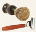 2pc/set Safety Razor and Badger Shaving Brush for Man Beard Care