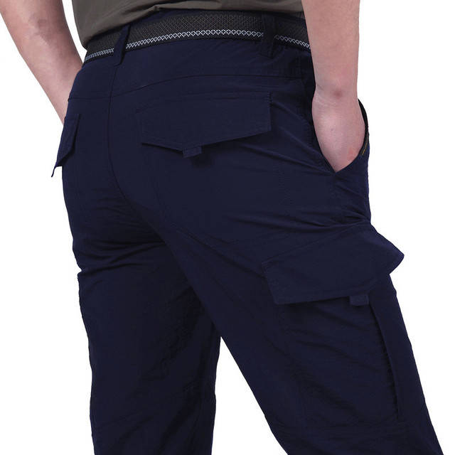 Quick Dry Casual Pants Men Summer Army Military Style Trousers Men's Tactical Cargo Pants Male lightweight Waterproof Trousers 2