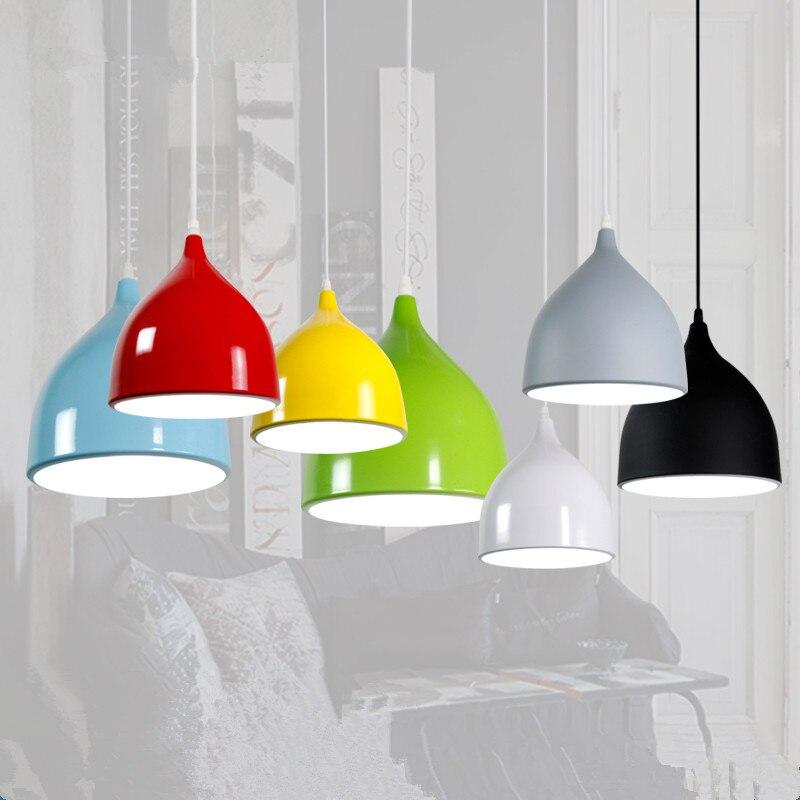 BOKT Modern Ceiling Lamp Metal LED Pendant Lights For Home Restaurant Dining Room Kitchen Island Lighting Fixtures Decoration
