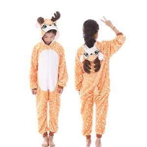 Image 4 - Kids Kigurumi Animal Pajamas Girl Boy Cartoon unicorn Panda Cosplay onesie Winter Warm Hooded Cute Sleepwear