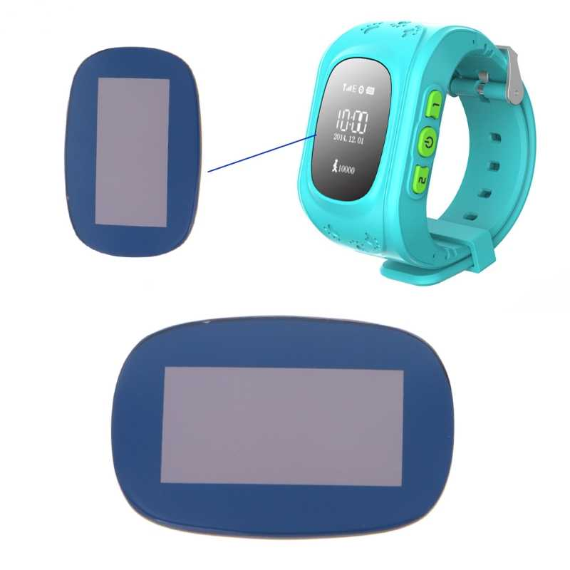 1 PC Blue Glass Screen Protector Replacement For Smart Kid Anti-Lost GPS Tracker Watch Q50
