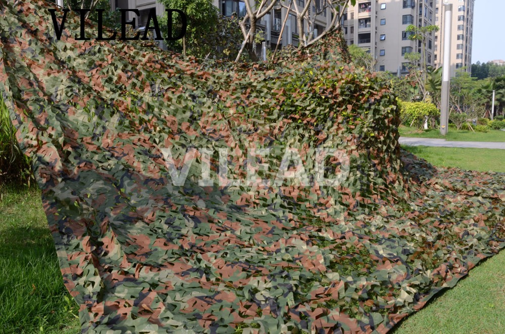 VILEAD 4M x 6M (13FT x 19.5FT) Woodland Digital Camo Netting Military Army Camouflage Net Sun Shelter for Hunting Camping Tent camo net 4x5m home decoration desert camouflage net outdoor camping sun shelter high quality military camouflage netting