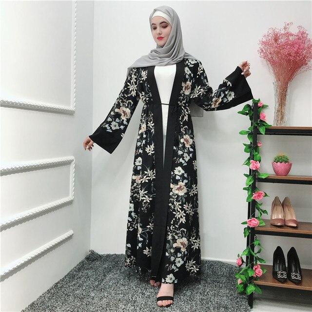 صيف رمضان عباية كيمونو رداء دبي تركيا الحجاب فستان مسلم قفطان عبايات للنساء جلباب قفطان Elbise الملابس الإسلامية
