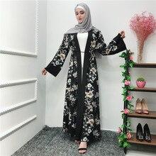 ฤดูร้อนRamadan Abaya Kimono RobeดูไบตุรกีHijabมุสลิมKaftan Abayasสำหรับผู้หญิงJilbab Caftan Elbiseเสื้อผ้าอิสลาม