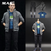 1/6 Scale Male Clothes Set School Casual Suit Dutch Brother Little Spiderman Model for 12'' Man Action Figure Body Accessory