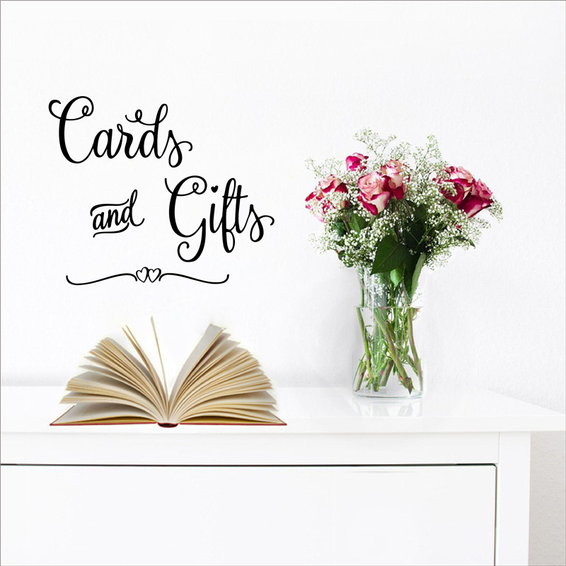 Cards and Gifts wall sticker