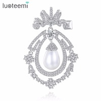 LUOTEEMI Brooch Copper AAA CZ 2018 Hot Sale Brand New Classic Popular High Quality Imitation Pearl