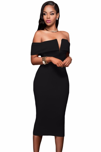Party Dress Bodycon Slash Neck Vestido De Festa