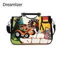 Dreamlizer bordado dos desenhos animados do saco das mulheres bolsas de alta qualidade ombro feminino saco da senhora padrão bolsas sacos do mensageiro das mulheres