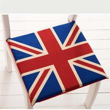 New Soft comfortable Home Office Decor Square Cotton Seat Union Jack cushion Pillow Buttocks Chair orthopedic seat 40*40/45*45cm
