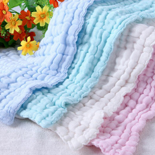6 layers Baby Bath Towels 100% Cotton Gauze Solid Soft New Born Infant Face Body Care Ultra Strong Water Absorption