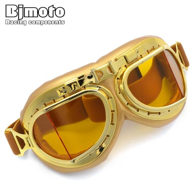 57976565443ce8 BJMOTO Voor Harley Zon Ski Bril Motorfiets Goggle Pilot Motorbike Fietsen  Goggles Retro Jet Helm Eyewear