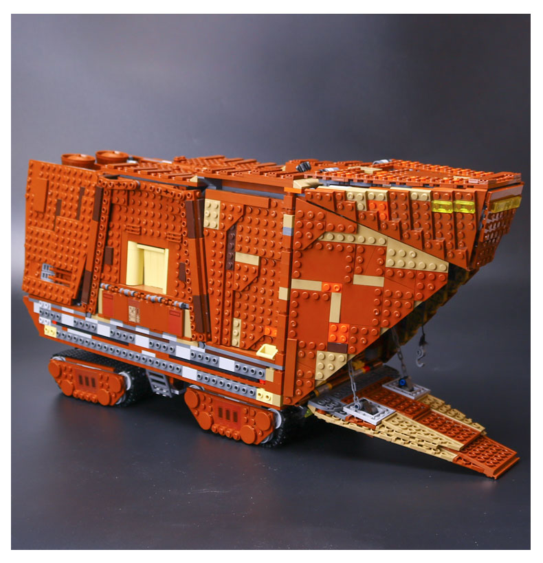 IN STOCK LePin 05038 3346Pcs Star Wars Force Awakens Sandcrawler Model Building Kit Blocks Brick Compatible 75059 Children Toy