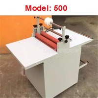 220V 60W Hand Manual Feeding Laminating Machine Cold Laminator Coating Speed 2 12m/min Stainless Steel Workbench Model 500