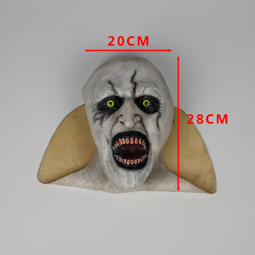 2018 The Nun Horror Mask The Conjuring Valak Cosplay Mask Full Head Horror Scary Halloween Party Props (16)