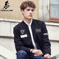 Pioneer Camp 2016 Black Men Hoodies Long Sweatshirts Fashion Brand Clothing Male Sweatshirts Wuyou