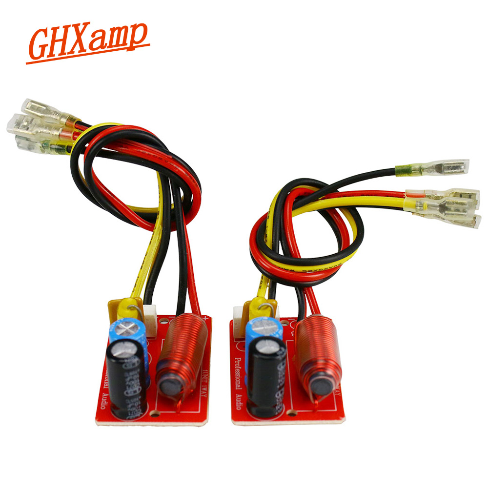 GHXAMP 45W Speaker Midrange Mid Crossover 1 Way Mediant Car Audio Crossover For 4-8ohm Speaker Unit 2pcs