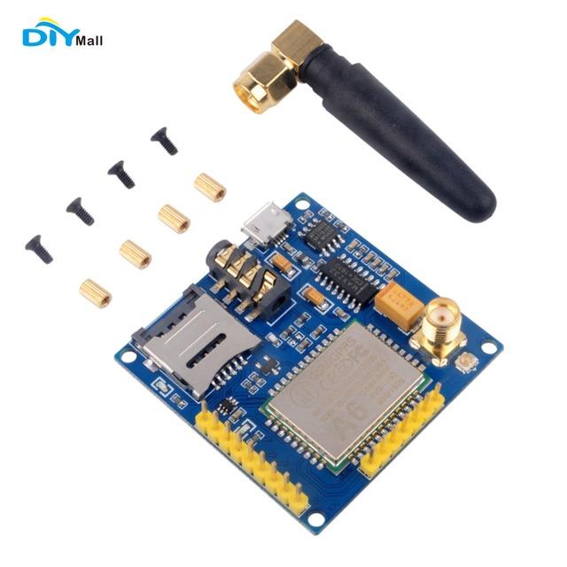 DIYmall A6 GPRS GSM GPRS Módulo Serial Pro Núcleo Placa Substituir SIM900 Quad-band DIY Developemnt ESP8266 5mA 115200bps FZ2615