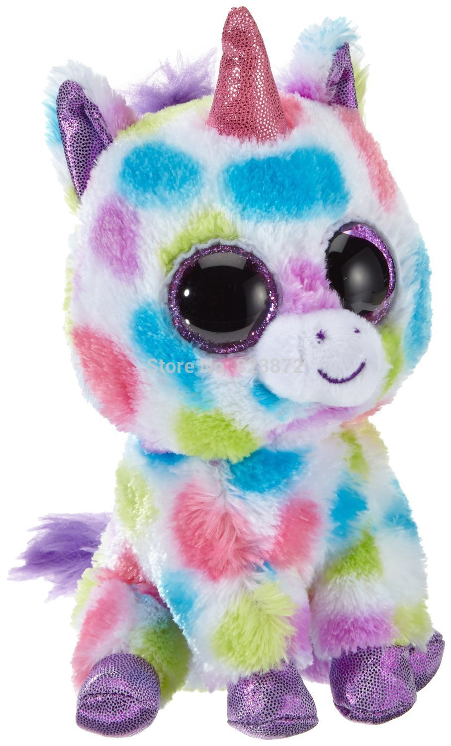 TY Plush Animals Beanie Boos Wishful Unicorn Plush Toys Large 25cm 10   Ty  Big Eyed Stuffed Animals Soft Toy Uunicornio Toys ab6558a7ba3