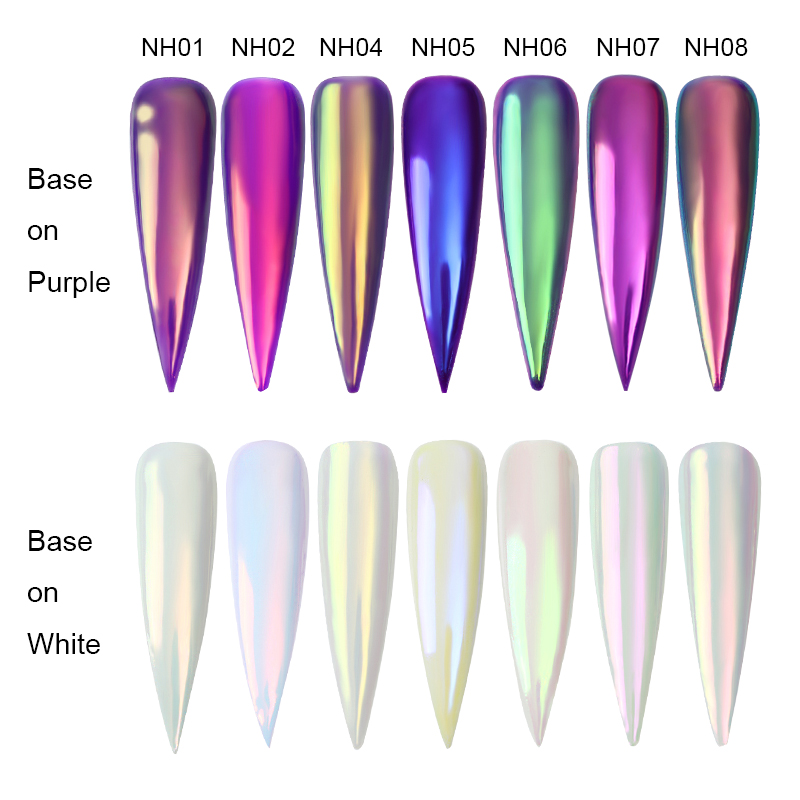 1Box Chameleon Nail Glitter Powder Dust Mirror