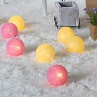 코튼 볼 빛 문자열, 3 메터 20 개 공, 휴대용 배터리 전원, 크리스마스 파티/웨딩 이벤트 장식