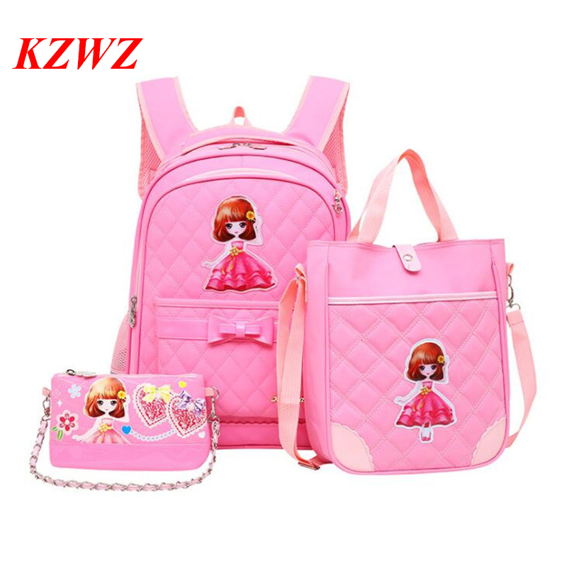 562ad5a255 2018 New Style Primary School Students School Bag Girls Children Backpack  Lovely Shoulder Travel Mochila Grade 1 9 Schoolbag -in School Bags from  Luggage ...