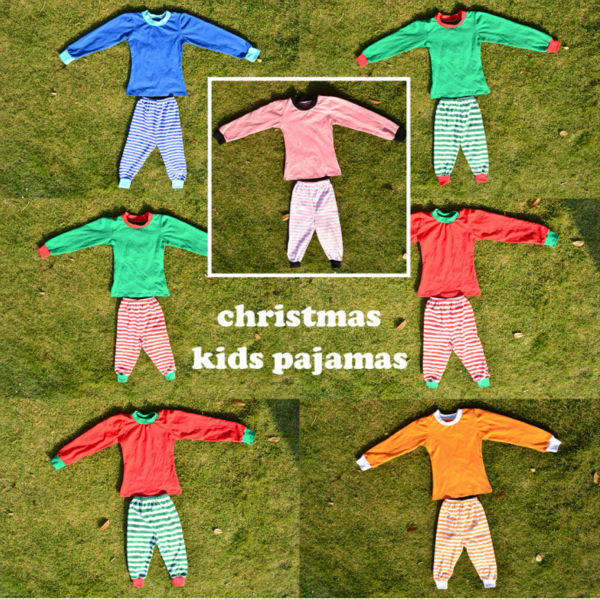 b52097bb05 hot sale boutique baby boutique clothing little teenage kid child boys  girls christmas pajamas red green