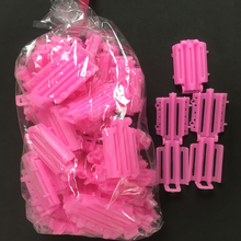 45pcs/ Bag Hair Clips & Pins Pink Hair Clips For Girls Wave Perm Rod Corn Curler Maker DIY Beauty Hairdressing Styling Tools A8