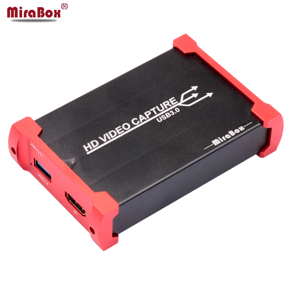 MiraBox USB3.0 60FPS HD Video Capture Card Dongle Game Streaming Live Stream Broadcast 1080P HD Video Capture Card