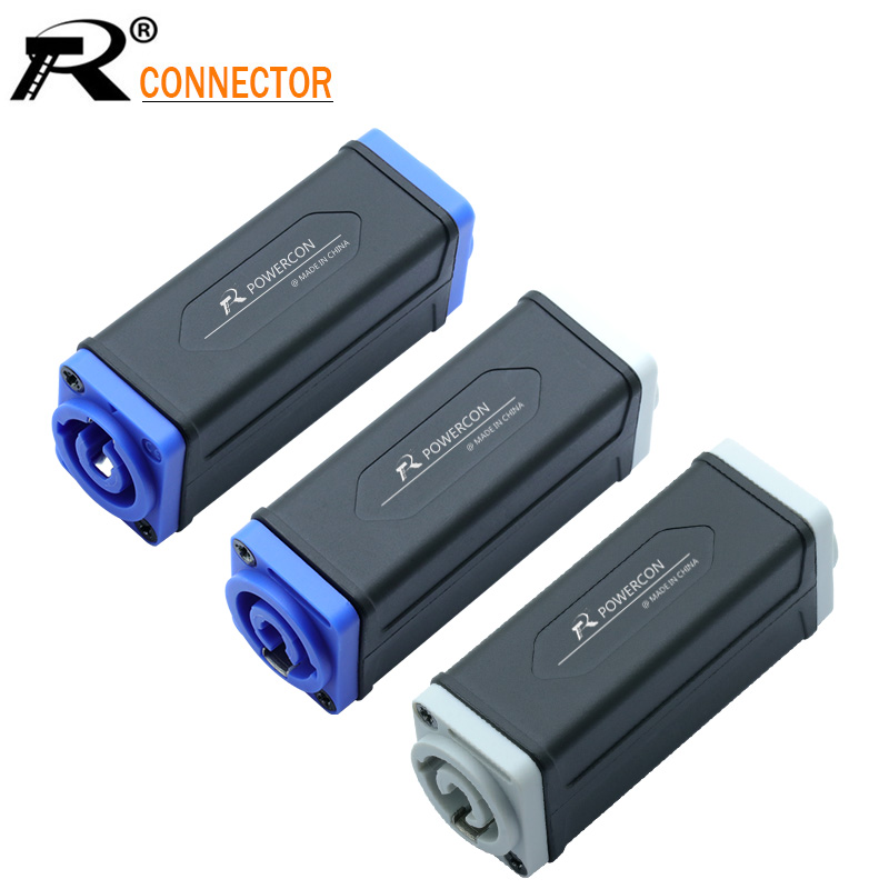 1pc New Arrival LED PowerCon AC Coupler Adapter Extender Connector High Quality Speakon Panel Mount Straight Adapter