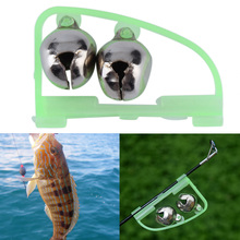 1 pc Fishing Accessory Rod Tip Fish Bite Double Alarm Alert Clip Bells Tool Hot Arrival