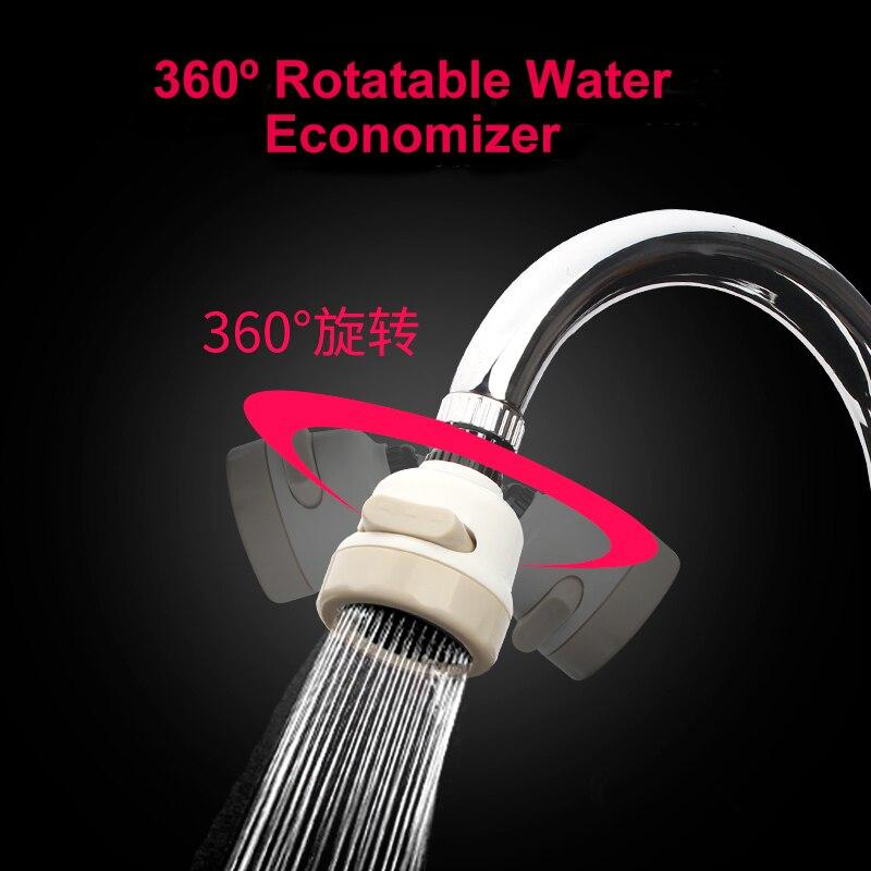 EHEH 3 Modes Faucet Aerator Water Saving 360 Degree Rotable Filter Silent Splash Prevention Kitchen Bathroom Accessories
