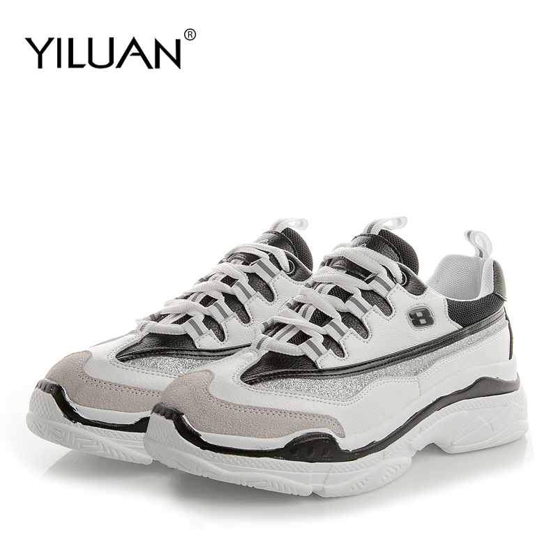Yiluan Petit code 32-39 yards fond épais printemps décontracté plate-forme dames chaussures à tête ronde baskets à plateforme femmes chaussures
