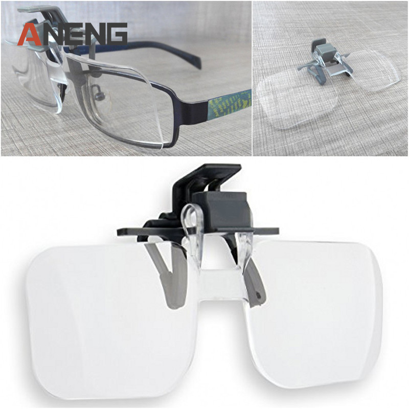 цена на Plastic glasses 2X Magnifying Eyewear Magnifiers glass