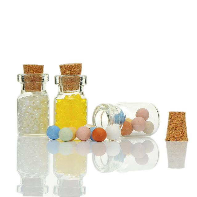 10pcs Tie Plug Tiny Gl Storage Bottles With Corks Small Jars Jewelry Vial Potion Container