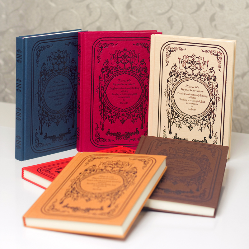 Vintage Europe Style Hardcover Planner Notebook Classic Journal Travel Diary Notepad Birthday Present classic notebook vintage