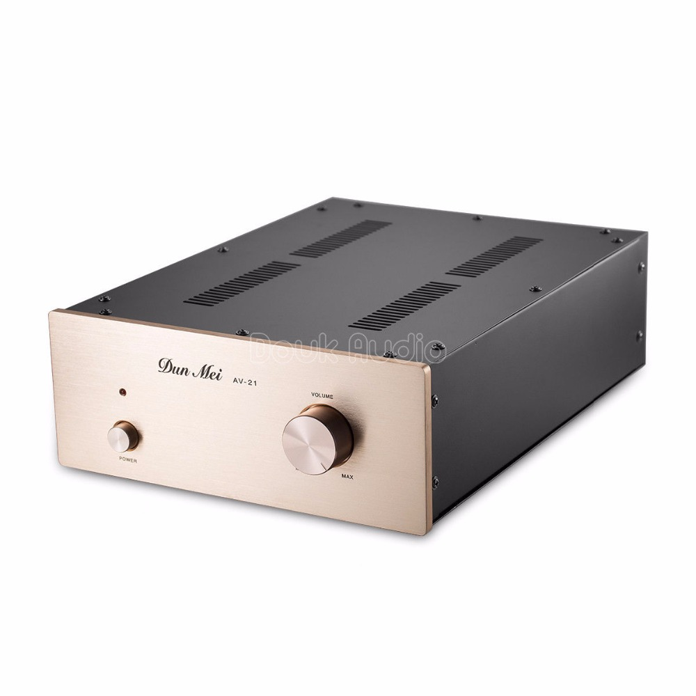 Douk Audio 6N11/12AU7 Vacuum Tube Buffer Pre-AMP Stereo HiFi Valve Preamplifier 1pcs high quality 6n3 6z4 tube valve pre amp class a audio stereo preamplifier include transformer g2 007